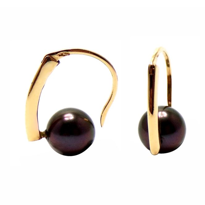 BOO06 OJ - boucles d'oreilles - perles de tahiti